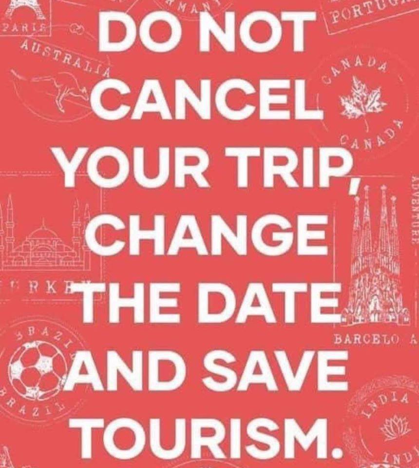 change the date and save tourism